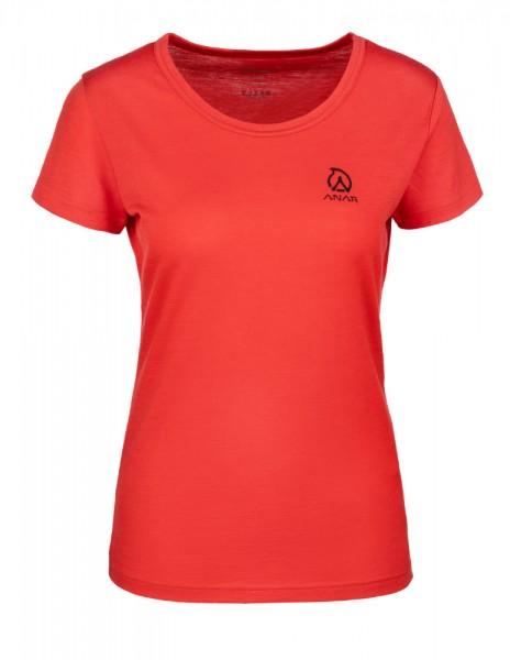 Anar Damen Merinowolle-T-Shirt Galda rot