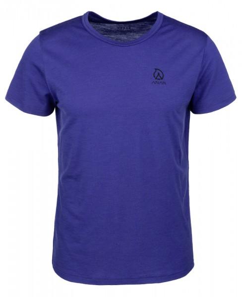 Anar Herren Merinowolle-T-Shirt Muorra spectrum blue blau