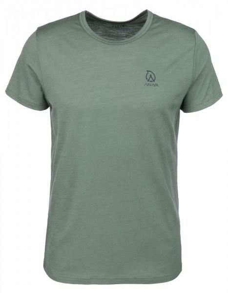 Anar Herren Merinowolle-T-Shirt Muorra grün