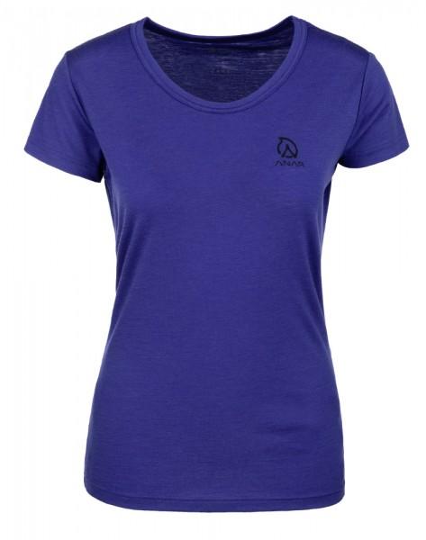 Anar Damen Merinowolle-T-Shirt Galda spectrum blue blau