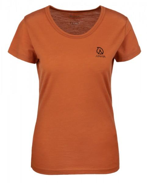 Anar Damen Merinowolle-T-Shirt Galda orange